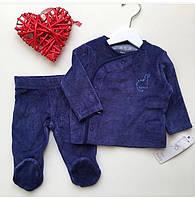 Вельветовый костюм на малыша 0-3 мес