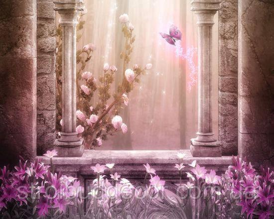 Фотообои Розовый замок разные текстуры , индивидуальный размер