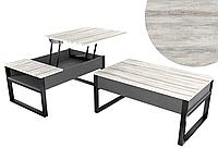 Журнальний стіл трансформер - стіл для ноутбука на кованих ножках Аспен
