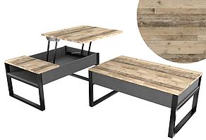 Журнальний стіл трансформер - стіл для ноутбука на кованих ножках Кельш