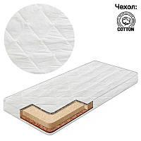 Матрас кокос - поролон - гречка, чехол хлопок Комфорт Белый ТМ Беби-Текс - 219260