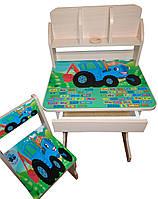 """Детская парта и стул растишка """"Синий трактор"""""""