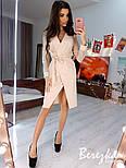 Женское платье  на запах с сеткой на рукавах звезда/горох (в расцветках), фото 8