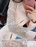 Женское платье  на запах с сеткой на рукавах звезда/горох (в расцветках), фото 10