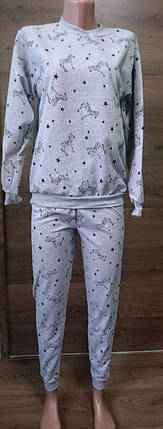 Пижама теплая меланж, фото 2