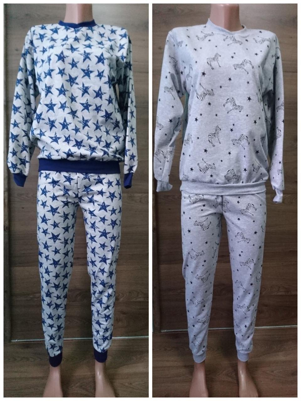 Пижама теплая меланж