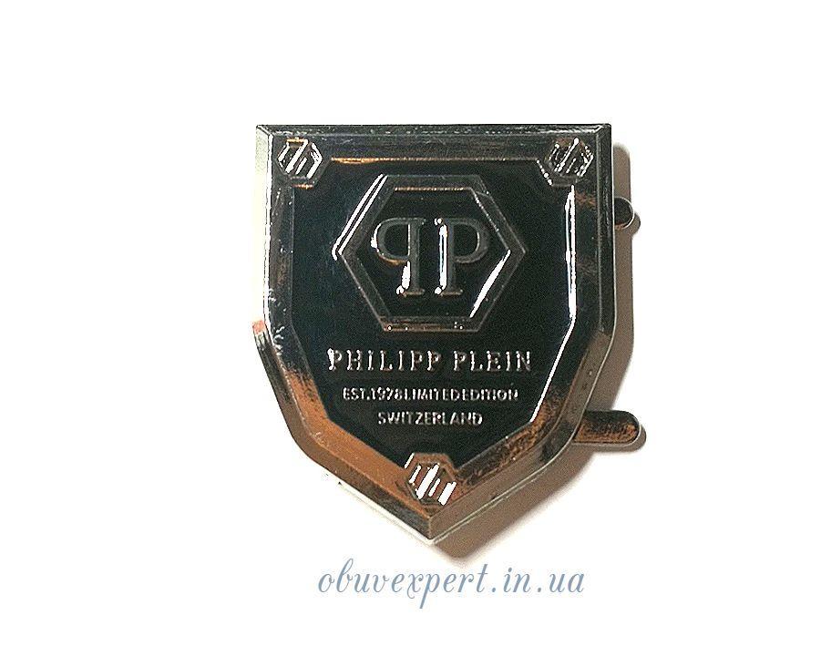 """Декоративна табличка- герб  """"РР"""" 30*35 мм Нікель"""