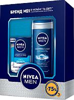 """Подарочный набор Nivea """"Свежесть и комфорт"""" (Лосьон после бритья + Гель для душа)"""