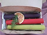 Набір свічок воскових з кольорової вощини, фото 2