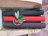 Набір свічок воскових з кольорової вощини, фото 4