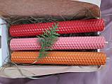 Набір свічок воскових з кольорової вощини, фото 5