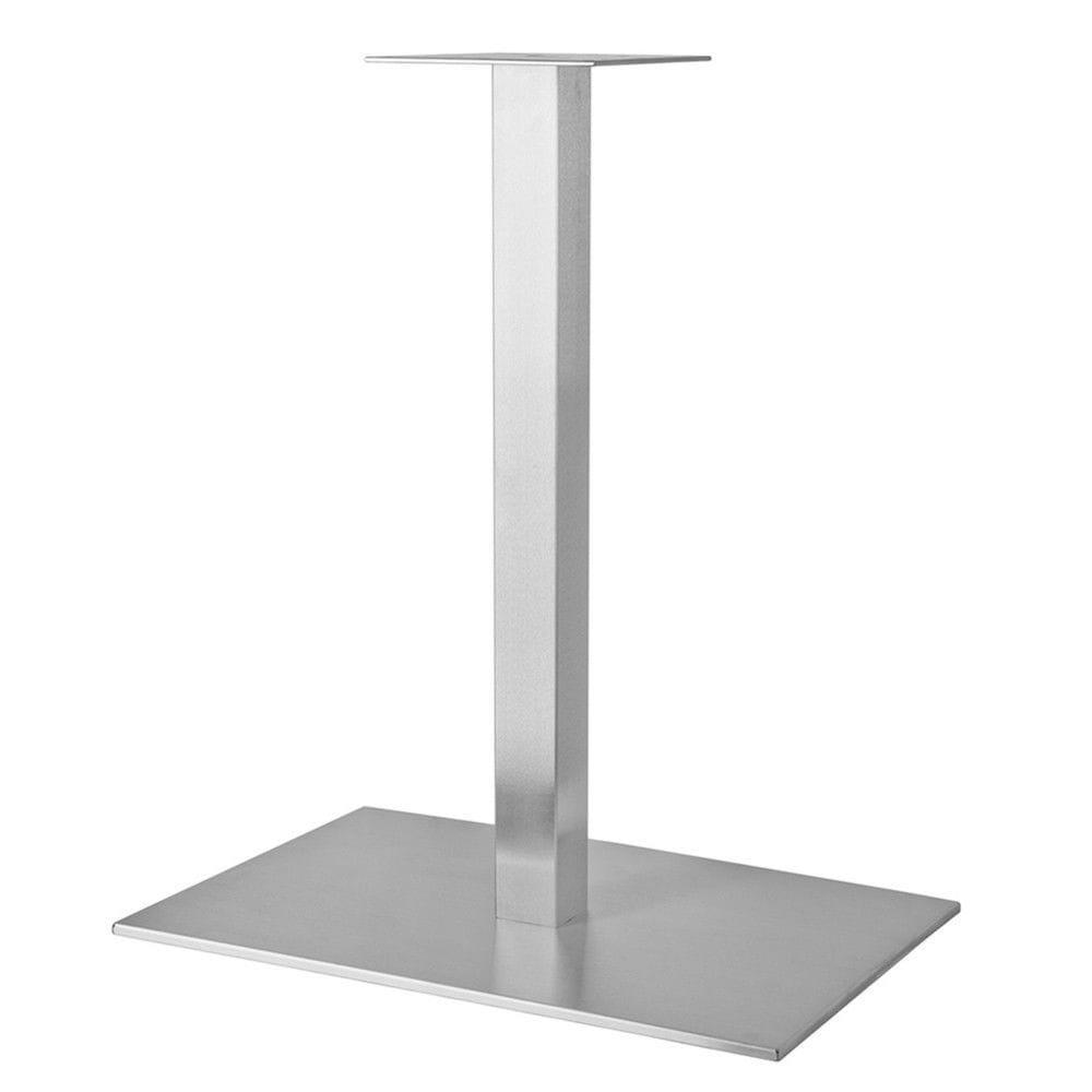 Металлические ножки для столика в бар с большой пластиной (серый металлик)