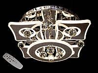 Светодиодная потолочная люстра с хрустальными подвесками с пультом-диммероми 5039-4+1 Dimmer, фото 1