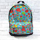 Хит! Стильный рюкзак с принтом Пончики Для путешествий тренировок учебы Vsem, фото 8