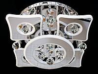 Светодиодная потолочная люстра с хрустальными подвесками с пультом 5039-4+1, фото 1