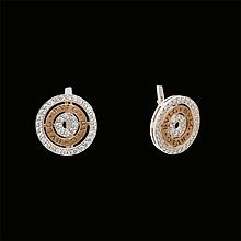 Серебряные серьги с позолотой  Irida-V 200115