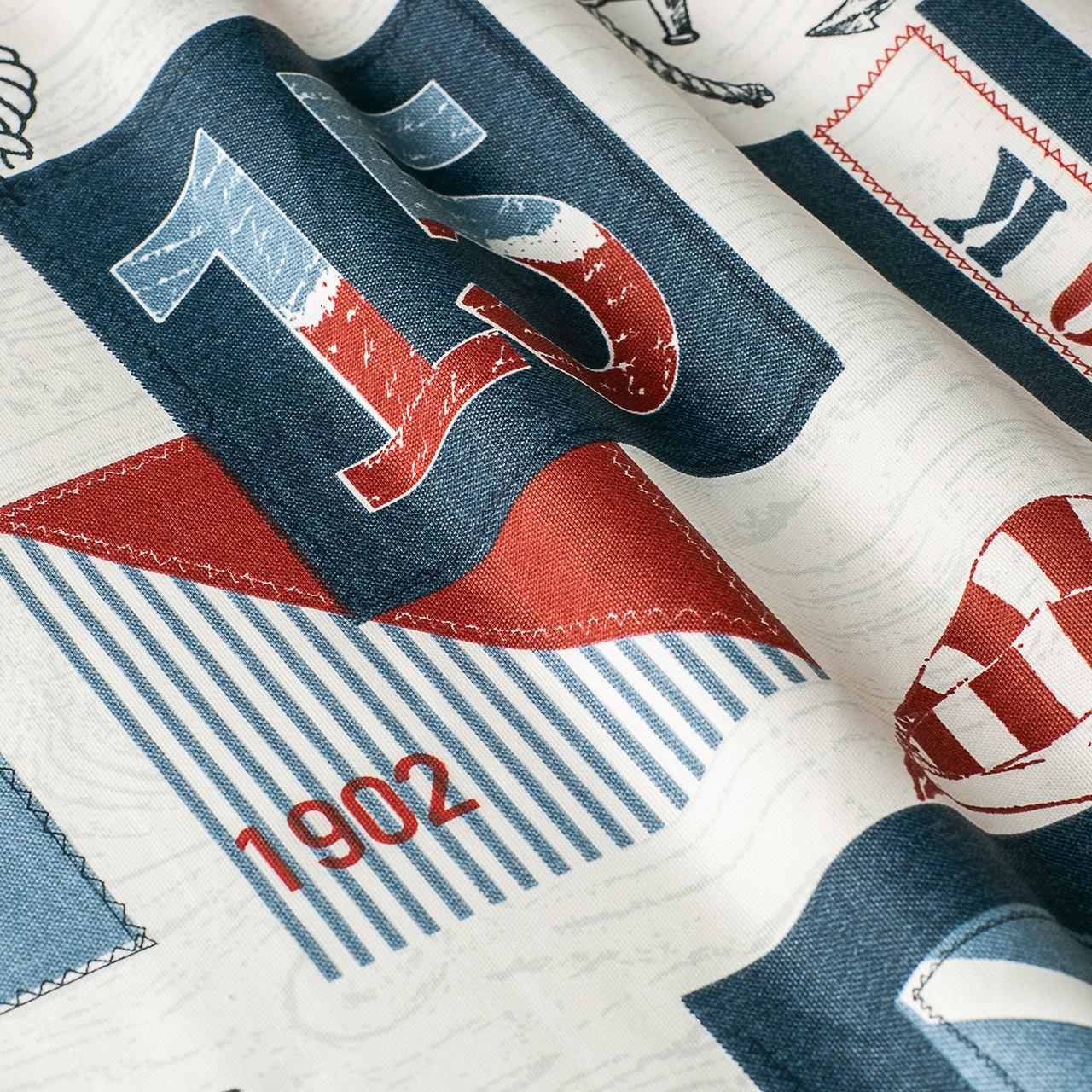 Декоративная ткань с тефлоновой пропиткой морская тематика 101274v3