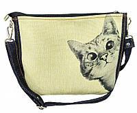 Джинсовая сумка ИНТЕРЕС, фото 1