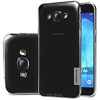 TPU чехол Nillkin для Samsung Galaxy A8 A8000 сірий, фото 1