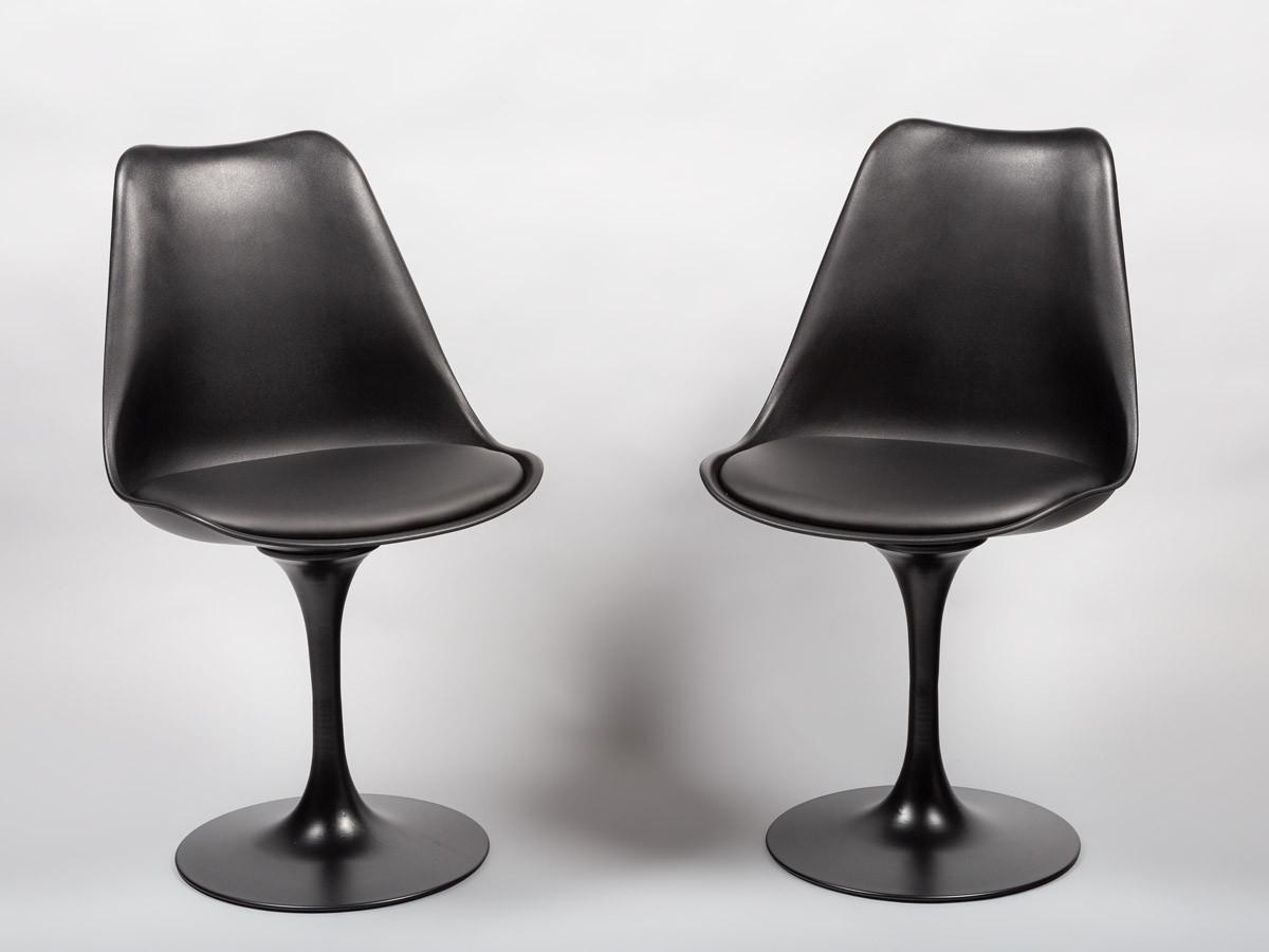 Стілець пластиковий з м'яким сидінням і чорним підставою Milan-Т - стильне дизайнерське рішення для кафе, барів
