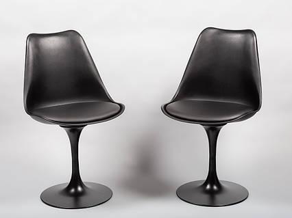 Стілець пластиковий з м'яким сидінням і чорним підставою Milan-Т - стильне дизайнерське рішення для кафе, барів, фото 2
