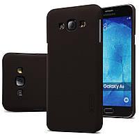 Чехол Nillkin для Samsung Galaxy A8 A8000 коричневый (+пленка), фото 1