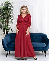 Платье женское длинное из трикотажа с люрексом с рукавом 3/4 (К29362), фото 1