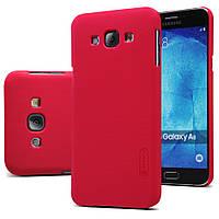 Чехол Nillkin для Samsung Galaxy A8 A8000 красный (+пленка), фото 1
