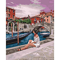 Живопись по номерам Удивительная Венеция KHO4658 Идейка 40 х 50 см (без коробки)