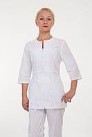 Белый медицинский костюм женский 2286 ( батист 42-56 р-р )