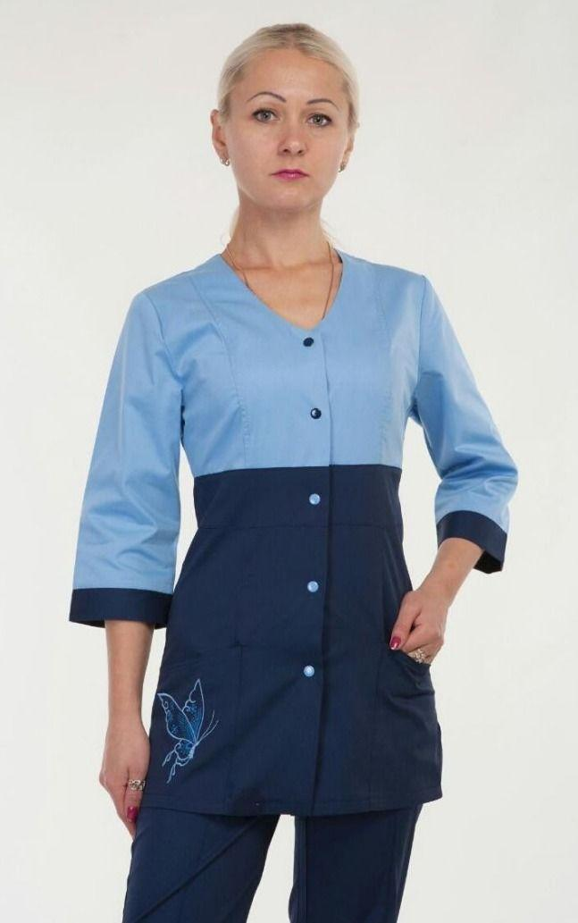 Красивый медицинский женский костюм  3234 (коттон 42-60 р-р )