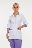 Медицинский женский костюм с вставками  К-3209 ( коттон 42-64 р-р )