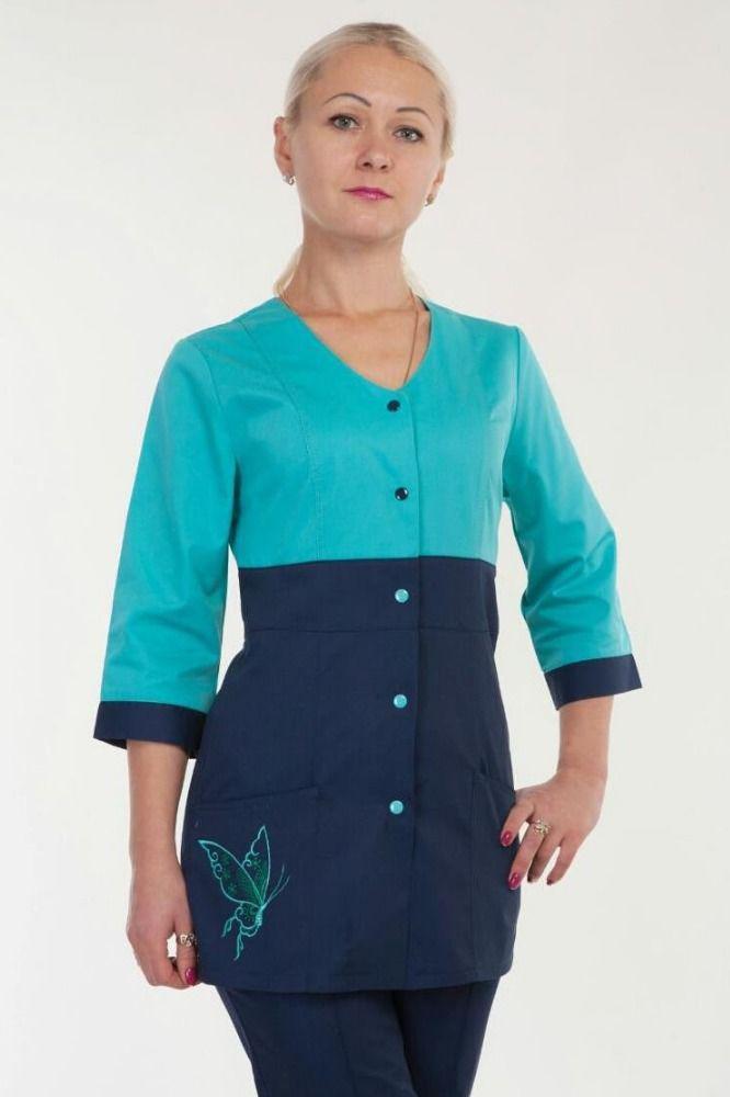 Красивый медицинский женский костюм 3235 ( коттон  42-60 р-р )