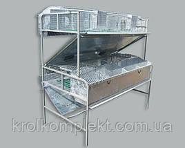 Клетка для самок и крольчат  КМОП - 2 (универсальная 12/36)