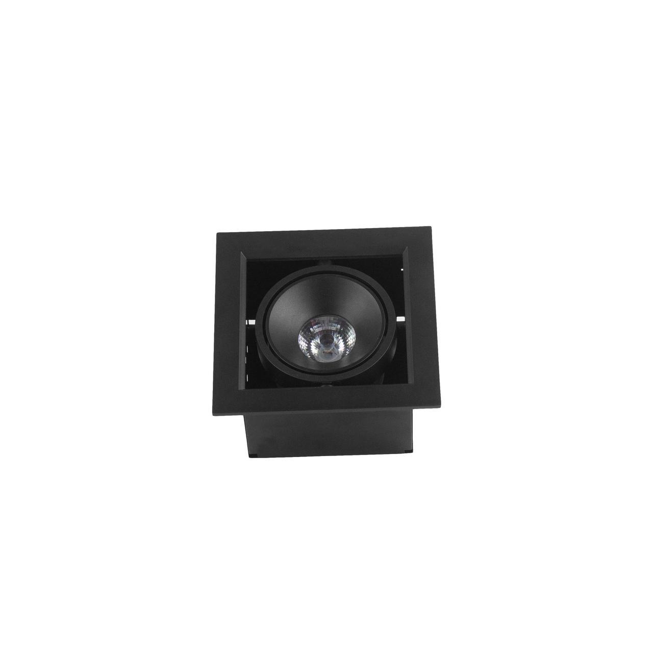Поворотний врізний спот чорний BX07-1-LED 7W BK 3000K