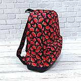 Яркий стильный рюкзак с принтом Арбуз Для путешествий тренировок учебы Рюкзак достаточно вместительный Vsem, фото 5