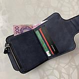 Женский кошелек клатч Baellerry Forever Mini балери Синий Замша PU Vsem, фото 8