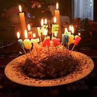 """Свечи для торта буквы """"З Днем Народження"""" Свечи на украинском языке 1085"""