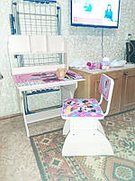 Детская и Школьная парта и стул растишка Минни Маус