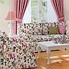Декоративна тканина рожеві колібрі опыляющие квіти 160145 v38, фото 2