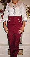 Стильный медицинский костюм ( батист 42-60 р-ры ), фото 1