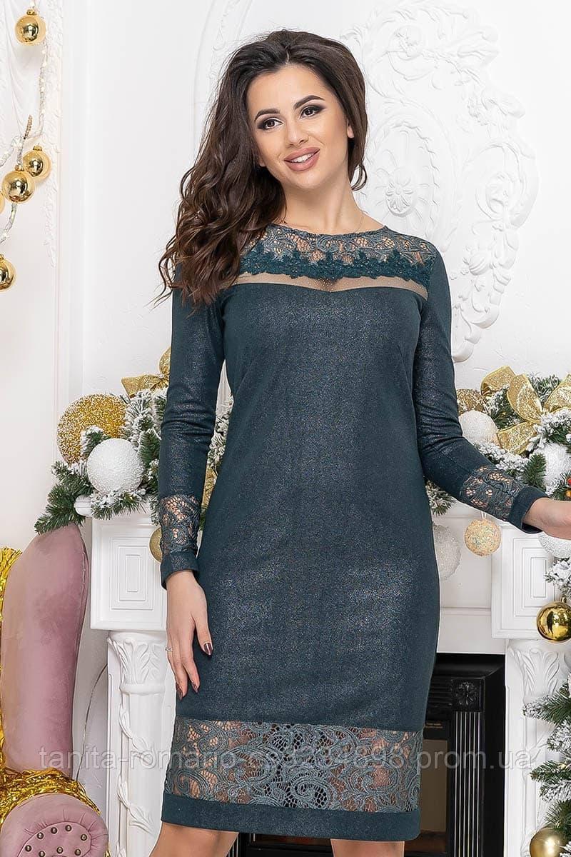 Повседневное платье 9218 green