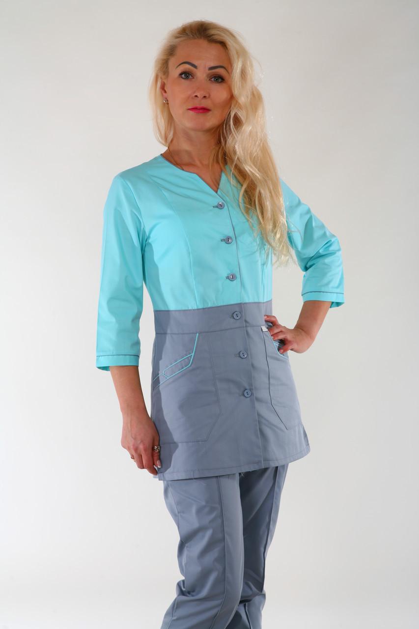 Медицинский костюм женский 22103 ( батист 42-66 р-ры )
