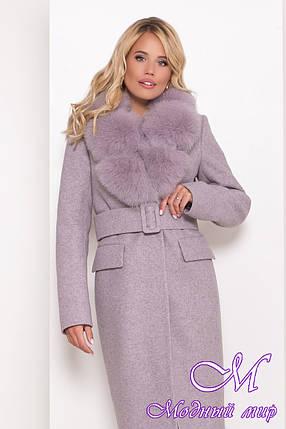 Жіноче зимове пальто з великим хутром (р. S, M, L) арт. Л-81-49/44104, фото 2