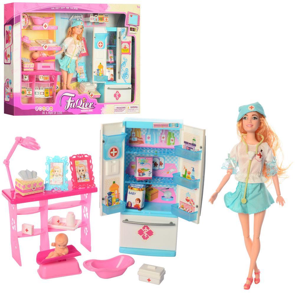 Кукла Барби доктор JX100-33 шарнирная с пупсом и аксессуарами