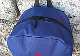 Рюкзак, портфель городской с накаткой Рибок, Reebok. Синий / R 2, фото 9