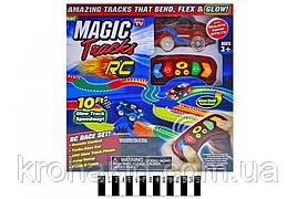 Детский игровой набор светящийся Гоночный трек / Трек Magic Tracks 6688-67 на радиоуправлении 200 дет+1 маш