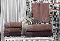 Полотенца бамбуковые 50*90 (3шт) 550г/м2 (TM Zeron)  Bamboo Puanli Desen, Турция, фото 1