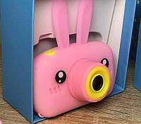 Детский цифровой фотоаппарат Smart Kids Camera 3 серия, с ушками розовый