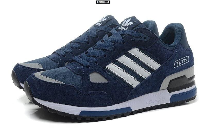 bb0f790a Зимние кроссовки Adidas ZX750 на меху темно синие - Stylemall Торговый  Центр в Киеве